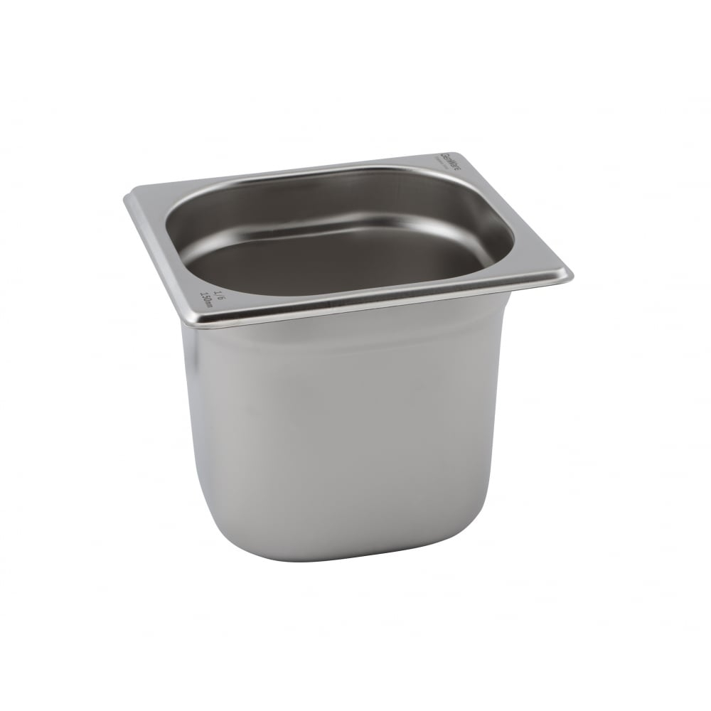 Stainless Steel Gastronorm Pans GN 1/6