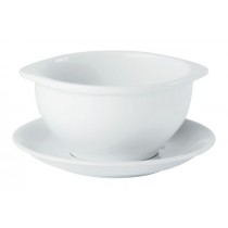 Porcelite Rimmed Lugged Soup Cups