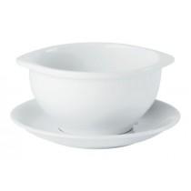 Porcelite Rimmed Lugged Soup Cups