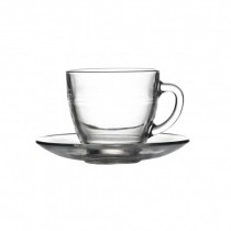 Glass Tea & Coffee Cups & Saucers