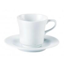 Porcelite Tall Tea Cup & Saucer