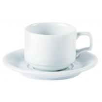 Porcelite Stacking Cup & Saucer