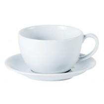 Porcelite Bowl Shaped Cups & Saucers