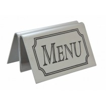 Stainless Steel, Acrylic & Perspex Tent Menu Holder