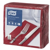 Tork Dinner Napkins 39cm 3ply 8 Fold