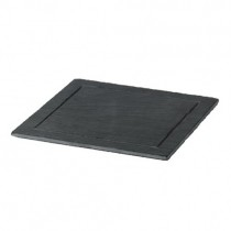 Square Natural Slate Plates with Groove