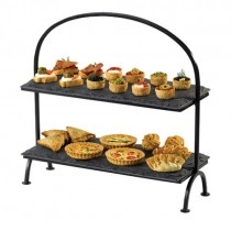 Natural Slate Rectangular 2 Tier Cake Stand