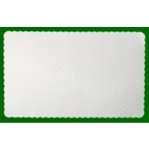 Disposable White Embossed Placemats
