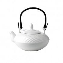 Oriental White Chinese Teapot