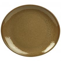 Genware Terra Stoneware Plates Brown