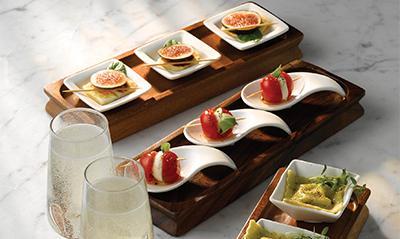 Art de Cuisine Menu Porcelain Miniature Dishes