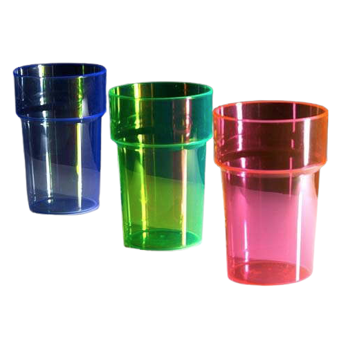 Coloured Plastic Glass