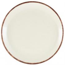 Genware Terra Stoneware Plates Sereno Brown