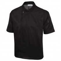 Coolvent Black Short Sleeve Chef Jackets