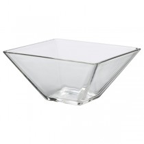 Clear Glass Square Bowls