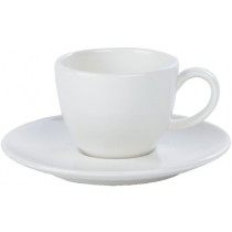 Simply Economy White Bowl Shape Cappuccino, Conical, Stacking Cups & Saucers, Mugs