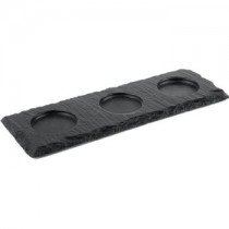Rectangular Slate Platter with Indents