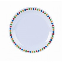 Genware Coloured Circles Tableware