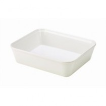 Genware White Melamine Display Dishes