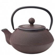 Rustic Mandarin Black Cast Iron Teapot