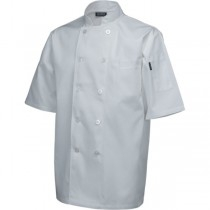 Genware Chef White Short Sleeve Jackets