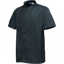 Genware Chef Black Short Sleeve Jackets