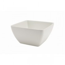 Genware White Melamine Curved Square Buffet Bowls