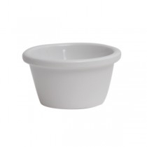 Genware White Smooth Melamine Ramekins
