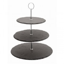 Natural Slate 3 Tier Cake Stand