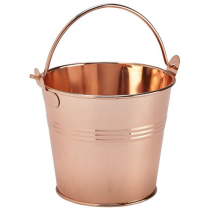 Copper Serving Cups, Angled Cones & Buckets