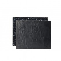 Slate Granite Effect Reversible Rectangular Melamine Platters