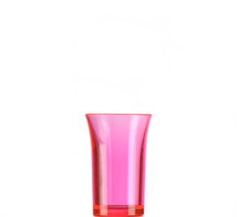 Econ Neon Red Reusable Polystyrene Shot Glasses CE 35ml