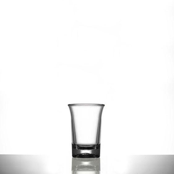 Elite Premium Polycarbonate Shot Glasses CE 25ml