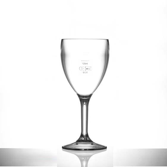 Elite Premium Polycarbonate Wine Glasses 9oz LCE at 125ml