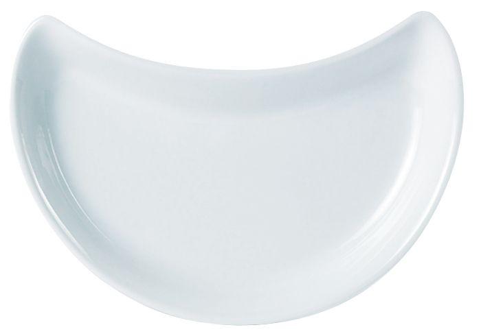 "Porcelite White Crescent Salad Dish 20cm /8"""