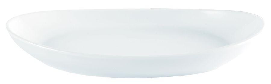 Porcelite White Oval Bistro Platter 34cm