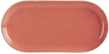 "Coral estrecha oval Placa 32x20cm / 12.5x8"""