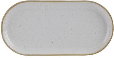 Estrecha de piedra de 30 cm plato ovalado