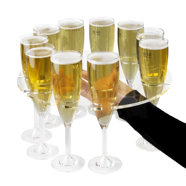 Champagne Flute Serving Tray 310mm