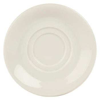 Porcelite White Double Welled Saucers 15cm