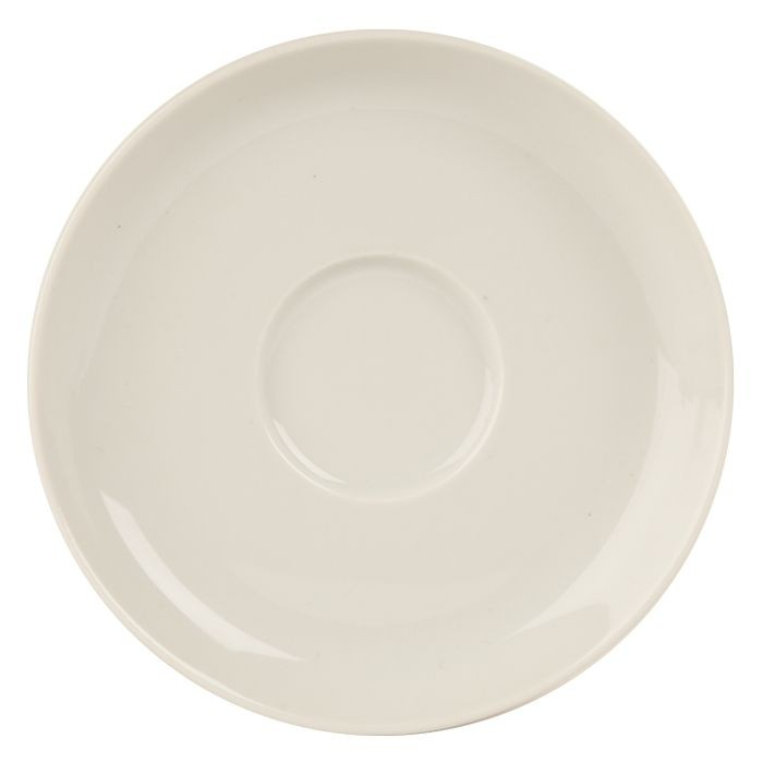 Porcelite White Saucers 17cm