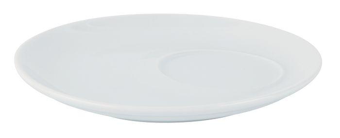 Porcelite White Off Centred Saucer 17cm