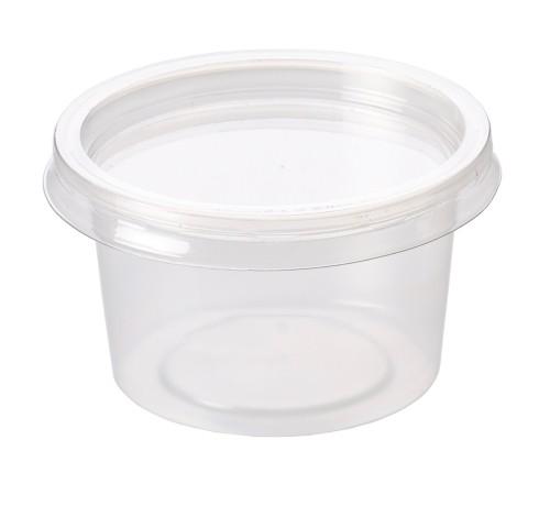 4oz Clear Plastic Deli Sauce Containers & Lids