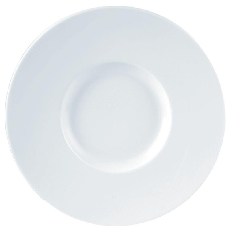 Porcelite White Wide Rimmed Gourmet Plate 29cm