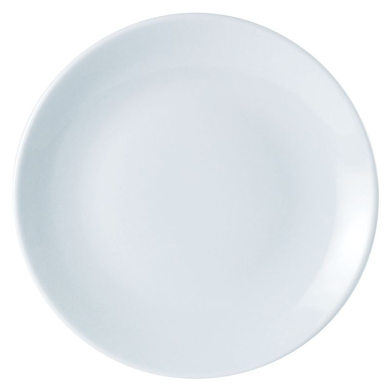 Porcelite White Coupe Shaped Plate 18cm