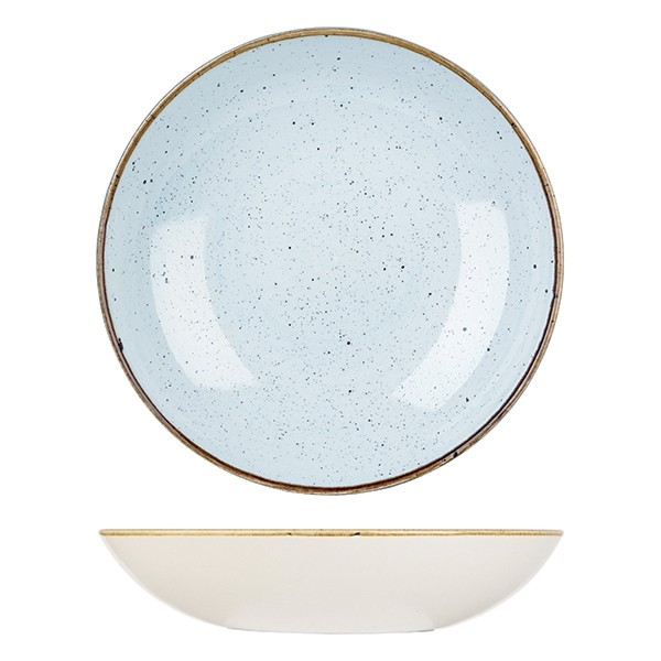 Churchill Stonecast Coupe Bowl Duck Egg Blue 18.2cm