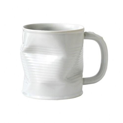Squashed Tin Can Mug White Large 32cl 11.75oz