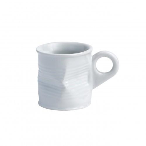 Squashed Tin Can Mug White Small 2.5oz