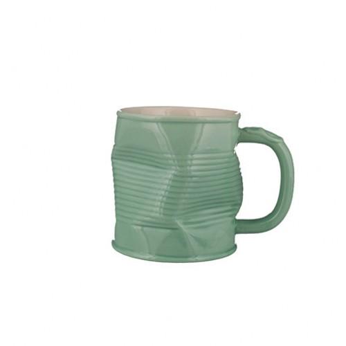 Pistachio Squashed Tin Can Mug 32cl 11.25oz