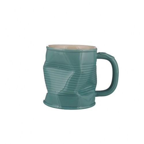 Turquoise Squashed Mug 32cl 11.25oz
